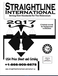 Straightline 2017 USA Criminal Court Record Search Price Catalog